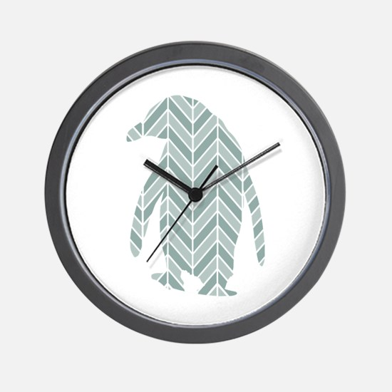 Chevron Penguin Wall Clock