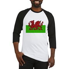 Red Welsh Dragon Baseball Jersey