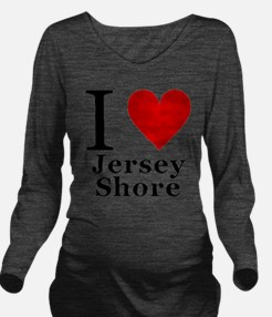 I Love Jersey Shore Long Sleeve Maternity T-Shirt