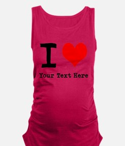 I Heart (personalized) Maternity Tank Top