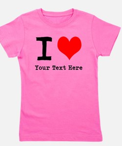 I Heart (personalized) Girl's Tee