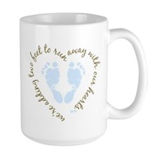 Adding Two Feet (blue) Mugs