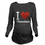 i-love-chocolate.png Long Sleeve Maternity T-Shirt
