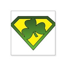 Super Shamrock Rectangle Sticker