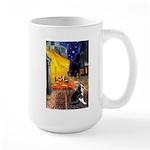 Cafe & Boston Terrie Large Mug