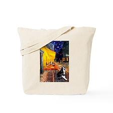 Cafe & Boston Terrie Tote Bag