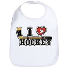 I Love Hockey Bib