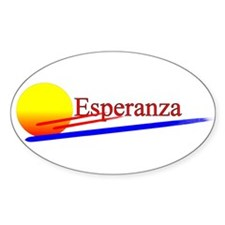 Esperanza Oval Decal
