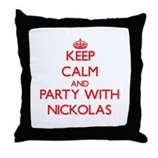 Keep Calm and Party with Nickolas Throw Pillow