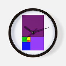 fibonacci roygbiv Wall Clock