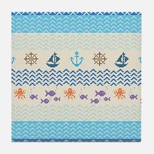 Sea Knitting, Tile Coaster