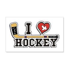 I Love Hockey Wall Decal