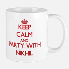 Keep Calm and Party with Nikhil Mugs