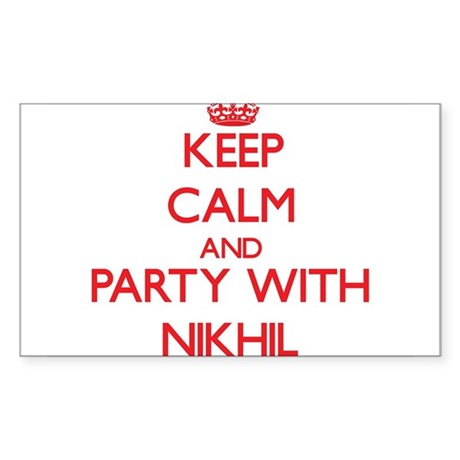 Keep Calm and Party with Nikhil Sticker