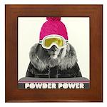Lion Winter Sports Framed Tile