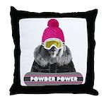 Lion Winter Sports Throw Pillow