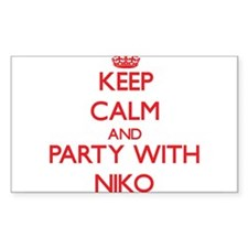 Keep Calm and Party with Niko Decal