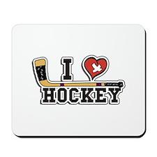 I Love Hockey Mousepad