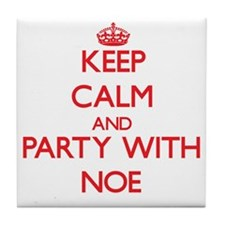 Keep Calm and Party with Noe Tile Coaster