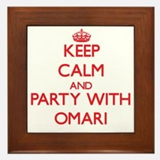 Keep Calm and Party with Omari Framed Tile