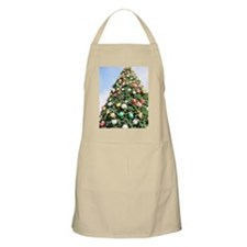 Christmas Tree Decorated With Ornaments Apron