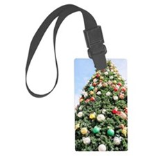 Christmas Tree Decorated With Or Luggage Tag