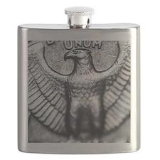Quarter Up Close Flask