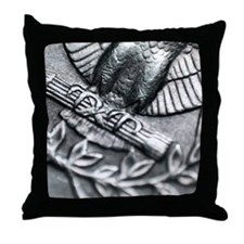 Eagles Feet on a American Quarter Throw Pillow