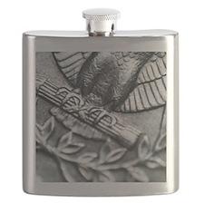 Eagles Feet on a American Quarter Flask