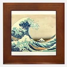 Hokusai Great Wave off Kanagawa Framed Tile