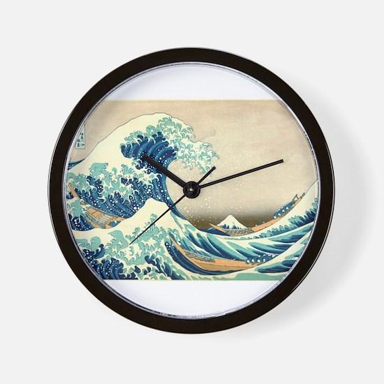 Hokusai Great Wave off Kanagawa Wall Clock