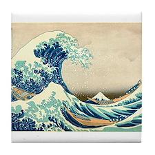 Hokusai Great Wave off Kanagawa Tile Coaster