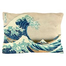 Hokusai Great Wave off Kanagawa Pillow Case
