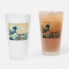 Hokusai Great Wave off Kanagawa Drinking Glass