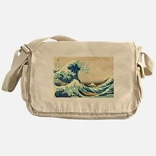 Hokusai Great Wave off Kanagawa Messenger Bag