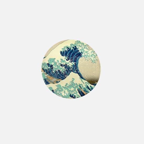 Hokusai Great Wave off Kanagawa Mini Button