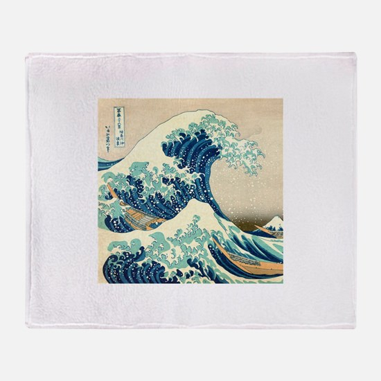 Hokusai Great Wave off Kanagawa Throw Blanket