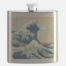 Hokusai Great Wave off Kanagawa Flask