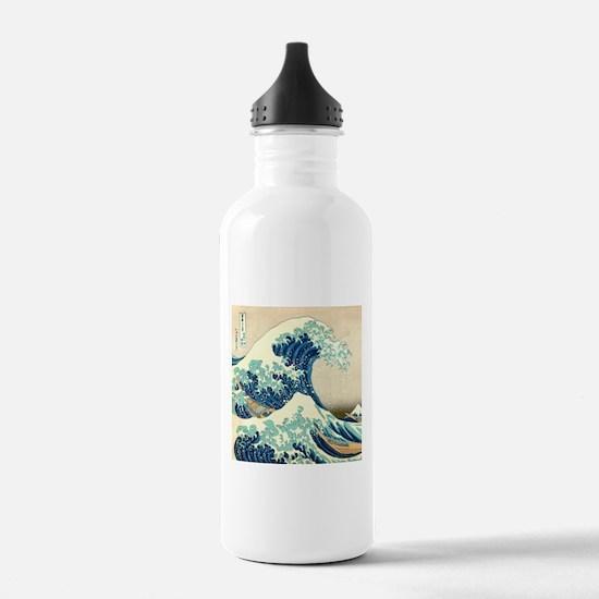 Hokusai Great Wave off Kanagawa Water Bottle