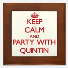 Keep Calm and Party with Quintin Framed Tile
