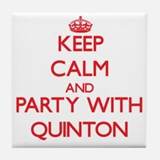 Keep Calm and Party with Quinton Tile Coaster