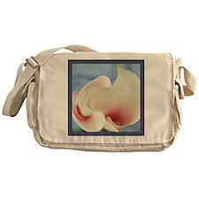Calla Lily Vortex Flower Art Photo Messenger Bag