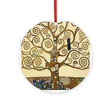 Gustav Klimt Tree of Life Ornament (Round)