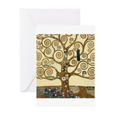 Gustav Klimt Tree of Life Greeting Cards