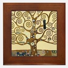 Gustav Klimt Tree of Life Framed Tile