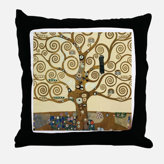 Gustav Klimt Tree of Life Throw Pillow