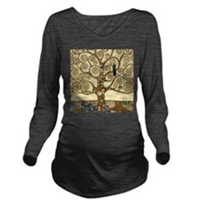 Gustav Klimt Tree of Life Long Sleeve Maternity T-