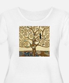 Gustav Klimt Tree of Life Plus Size T-Shirt