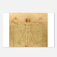 Vitruvian man by Leonardo da Vinci Postcards (Pack