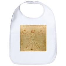 Vitruvian man by Leonardo da Vinci Bib